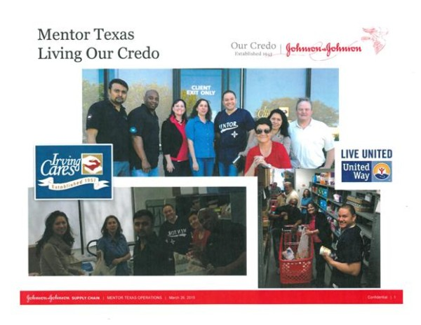 Mentor Texas Volunteers at Irving Cares