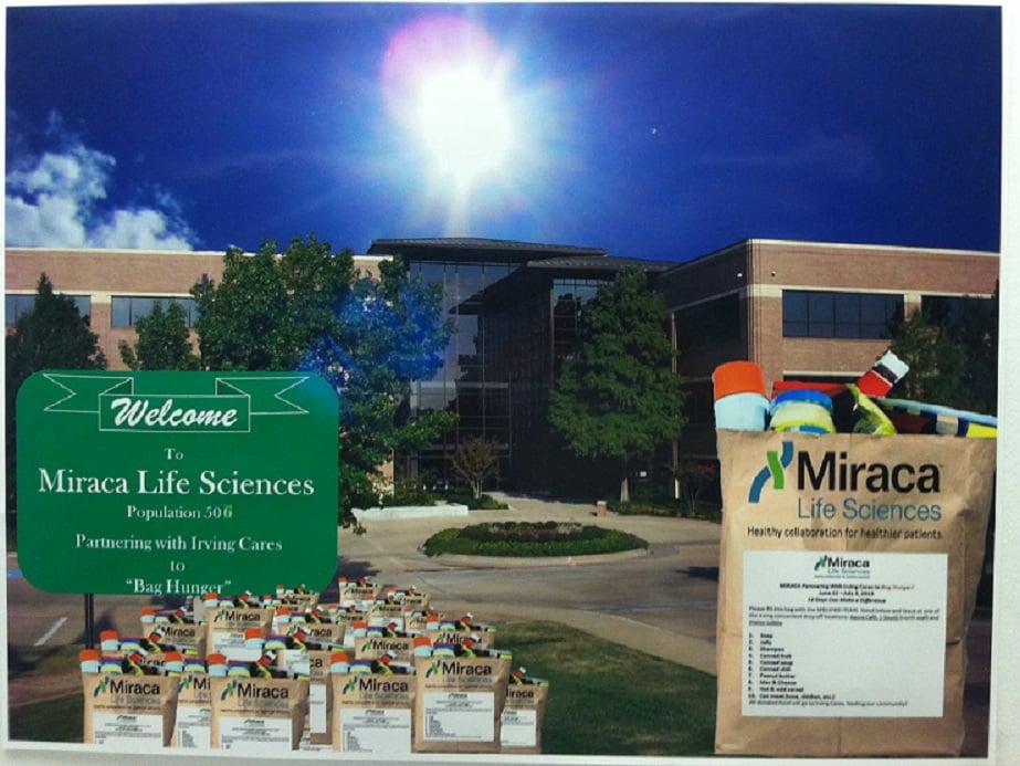 Miraca Life Sciences Bag Hunger