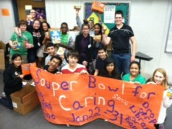 Travis Middle School Souper Bowl donation