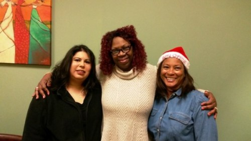 Cynthia with Case Managers Beverly and Michelle