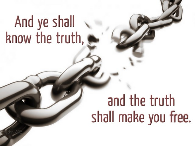 Image result for the truth shall set us free