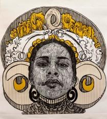 beku, xilografia, 100cm x 100cm, 2014