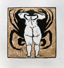 cangrejo negro-xilografia-20x20cm