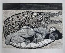 DULCE COCUYO, Xilografia, 60cm x 80cm, 2012