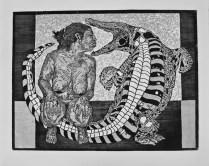 EL NIDO, Xilografia, 60cm x 80cm