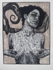 ALICE, Xilografia, 80cm x 60cm, 2011