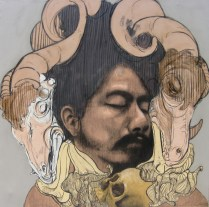 SEÑOR MATANZA, 150 x 150cm,mixta :tela,2011