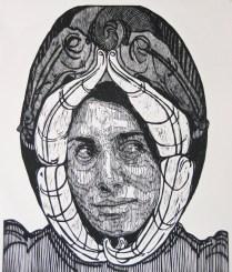 señora matanza IX-xilografia-120cm x100cm-2013