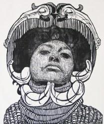 SEÑORA MATANZA VIII, Xilografia, 120cm x 100cm, 2013