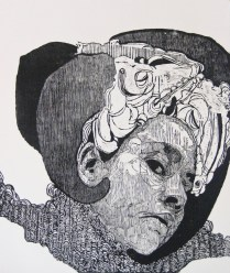 SEÑORA MATANZA III, Xilografia, 120cm x 100cm, 2012