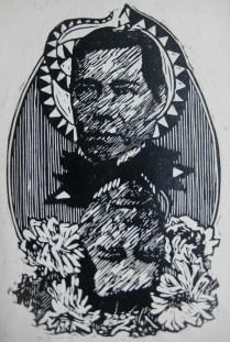 LOS DOS JUAREZ, xilografia, 38cm x 28cm, 2014