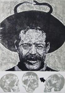 SANTO VILLA Xilografia 100cm x 70cm 2010