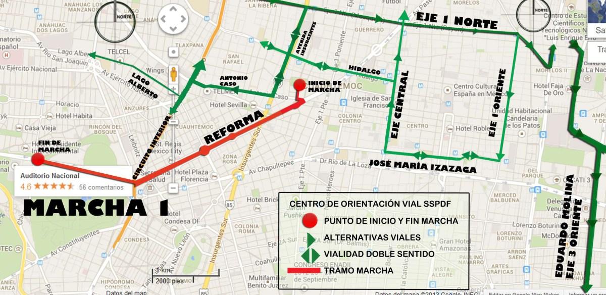 Marchas y concentraciones para hoy miércoles 20 de marzo en la CDMX