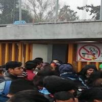 Encapuchados bloquean accesos a la Prepa 5