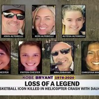 Revelan nombres de las víctimas que iban en el helicóptero con Kobe Bryant y su hija