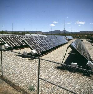 Solarversorgung Touriststation Petrified Forest 1983