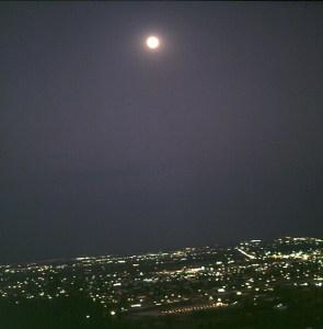 Vollmond überr Tucson 1983