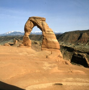 Delicate Arch mit Lars 1986
