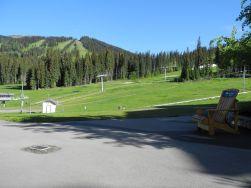 canada-skikurort mit Bären um die Ecke