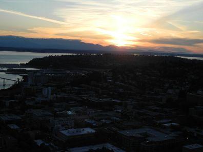 canada-Seattle Sonnenuntergang vom Turm105