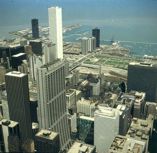 chicago-blick vom sears-tower-zum hafen
