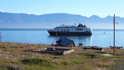 Grönland-Unsere Fram im eisfreien Fjord 2007