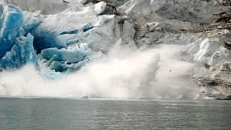 Grönland Gletscher kalbt 2007