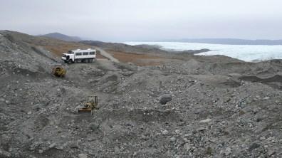 Grönland Verlängerung der Fahrwege zur Eisgrenze 2007