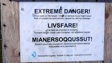 Grönland-Warnschild 2007