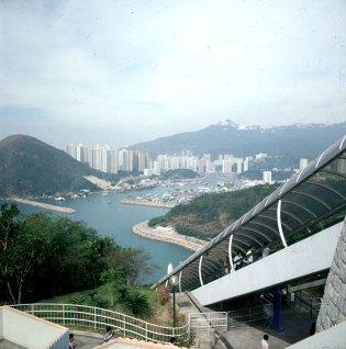 Hongkong-Oceanpark Blick nach Aberdeen 1997