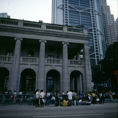 Hongkong-weekendmeeting vor Governeurspalast 1997