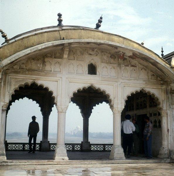 Indien-Agra Fort -Taj-Mahal-Blick 1999