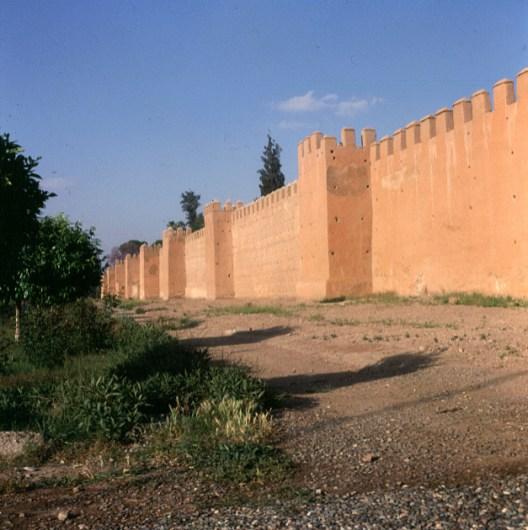 Marokko-Marrakesch Stadtmauer 1995