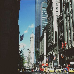 new-york-5th Avenue Nähe Trumptower 1983