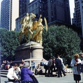 new-york-Sherman-Denkmal gegenüber Plaza 1994