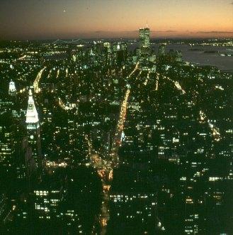 new-york-Blick vom Empire State Building zum WTC 1988