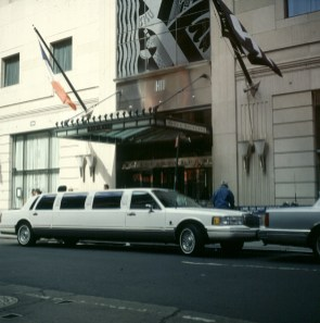 new-york-Imponiergehabe mir Stretch-Limo 1994