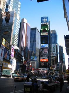 new-york-Timessquare am frühen Morgen 2003