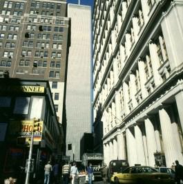 new-york-Enge Zufahrt zum WTC 1994