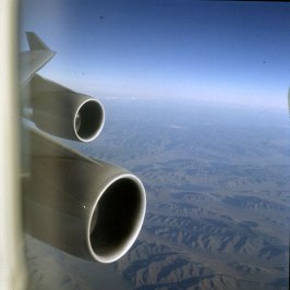 Peking-Anflug über Mongolei 2000