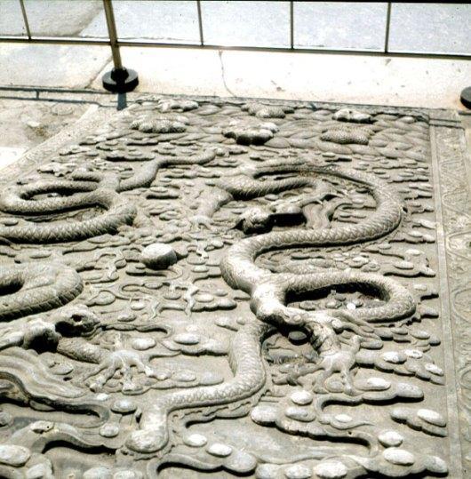 Peking-Kaiserpalast-Rampe-Dämonenschlangen 2000