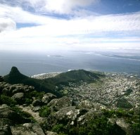 Suedafrika-Kapstadt - Blick zum Signalhill 1987