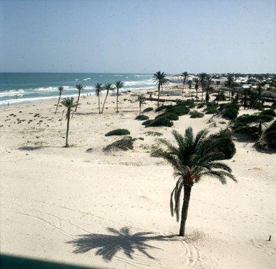 Tunesien-Djerba-Hotelblick 1990