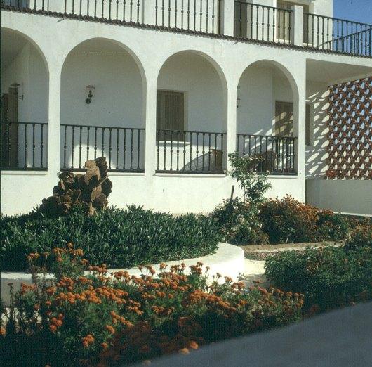 Tuniesien Vorgarten mit Sandrose 1980