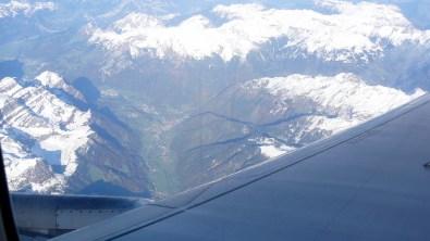 kotor-Heimflug Alpen