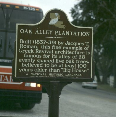 Mississippi-Oak Alley-Schild