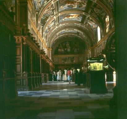 spanien-escorial-bibliohek 1977
