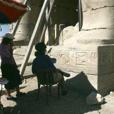 Totentempel-Ramesseum- Archäologinnen 1978