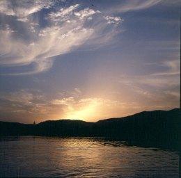 Assuan-heute mit Wolken