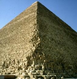 Gizeh-Cheopspyramide Napoleon Beschuss